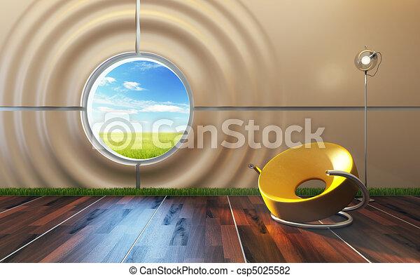 salotto, interno, stanza, moderno - csp5025582
