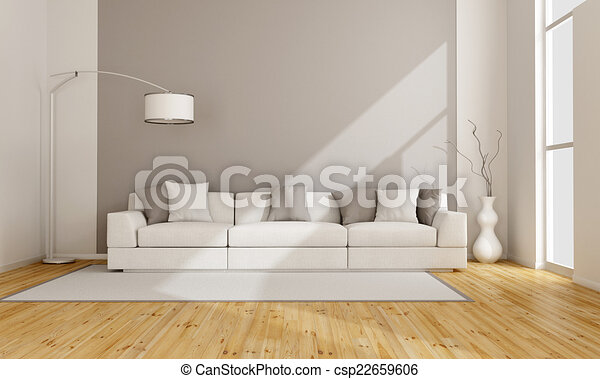 salotto, minimalista - csp22659606