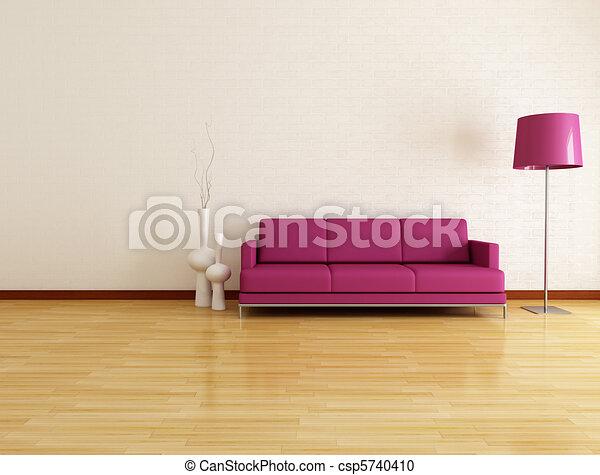 salotto, minimalista - csp5740410