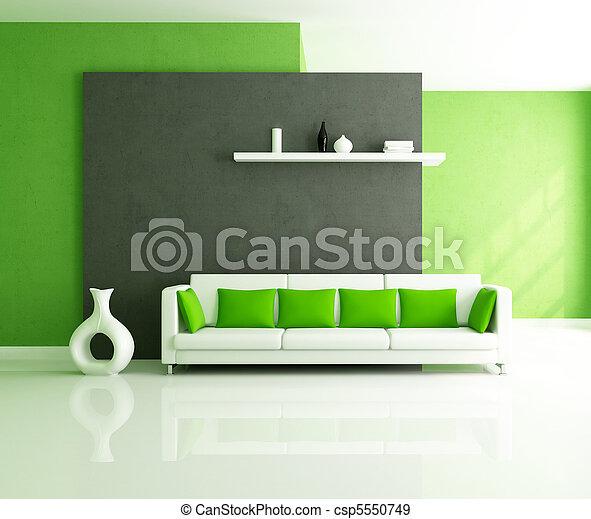 salotto, moderno - csp5550749