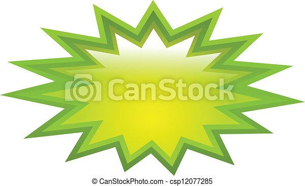 Un icono verde - csp12077285