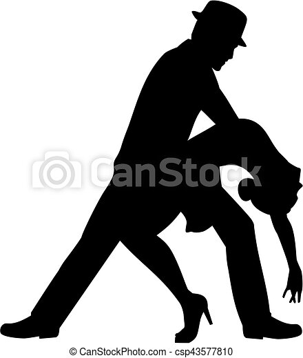 salsa dancing couple silhouette