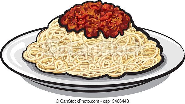 salsa, espaguetis - csp13466443