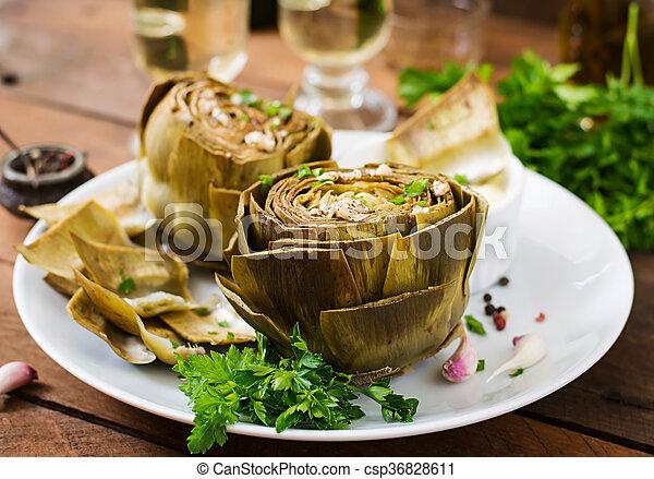 salsa, senape, prezzemolo, carciofi, cotto, aglio, cotto - csp36828611