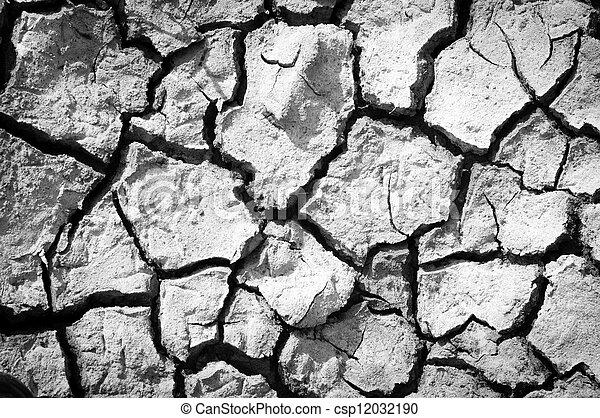 Salt ground crack - csp12032190