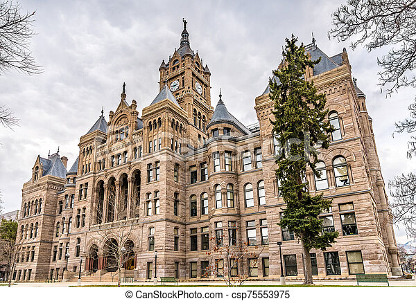 Salt Lake City and County Building in Utah - csp75553975