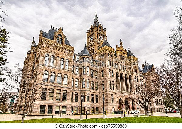 Salt Lake City and County Building in Utah - csp75553880