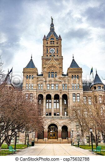 Salt Lake City and County Building in Utah - csp75632788