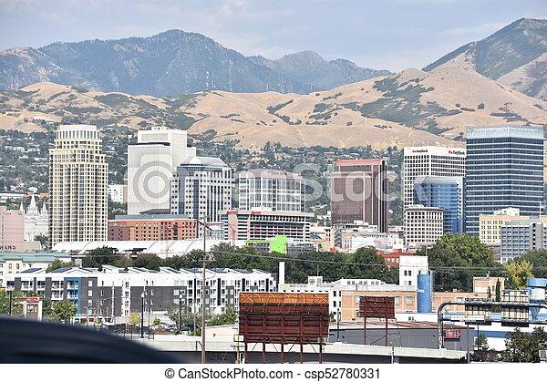 Salt Lake City in Utah - csp52780331