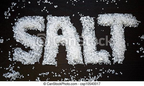 Salt spelled out - csp10540017