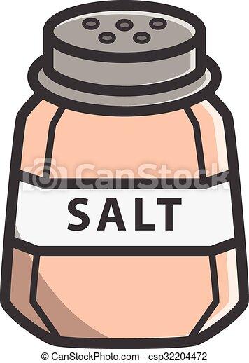 Salt vector cartoon illustration vectors illustration ...