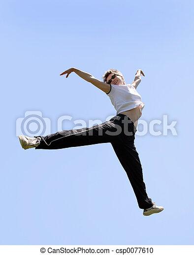 saltando alto - csp0077610