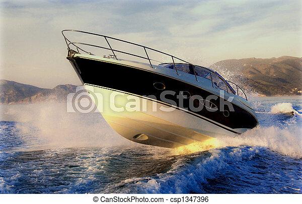 saltar, barco - csp1347396