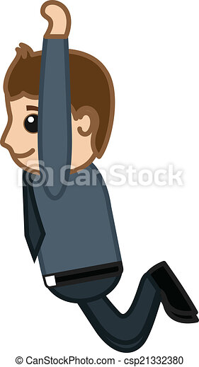 Hombre de dibujos animados saltando - csp21332380