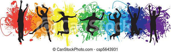 Gente saltando - csp5643931