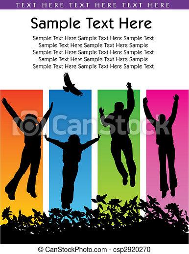Gente saltando - csp2920270