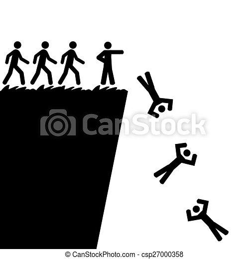 Saltando por un precipicio - csp27000358