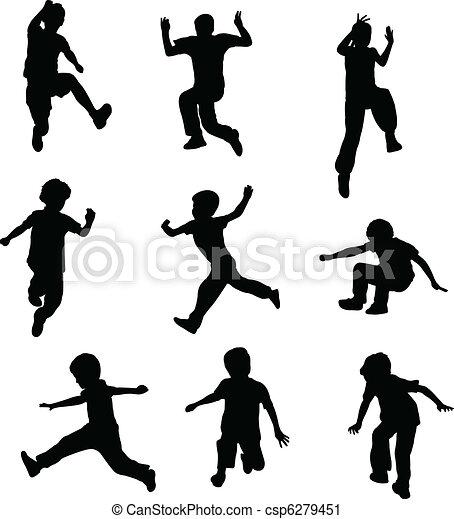 Niños saltando - csp6279451