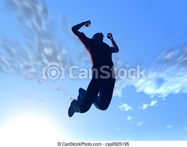 saltare, cielo - csp0925195
