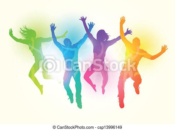 saltare, giovani adulti - csp13996149
