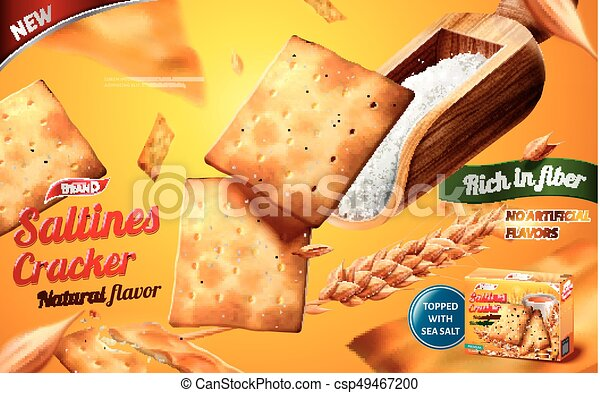 Saltines cracker ads - csp49467200