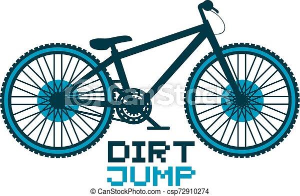 salto, bicicletta, sporcizia - csp72910274
