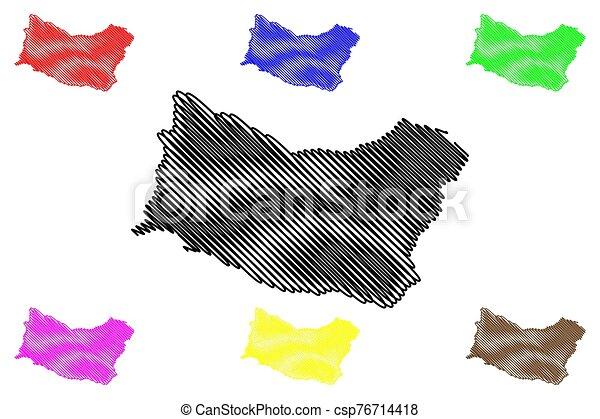 Salto Department (Departments of Uruguay, Oriental Republic of Uruguay) map vector illustration, scribble sketch Salto map - csp76714418
