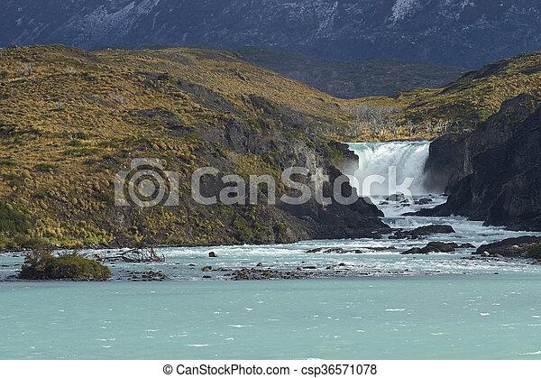 Salto Grande in Torres del Paine - csp36571078