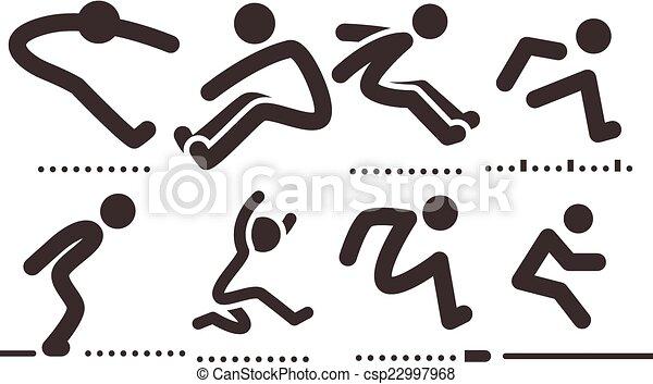 iconos de salto largo - csp22997968