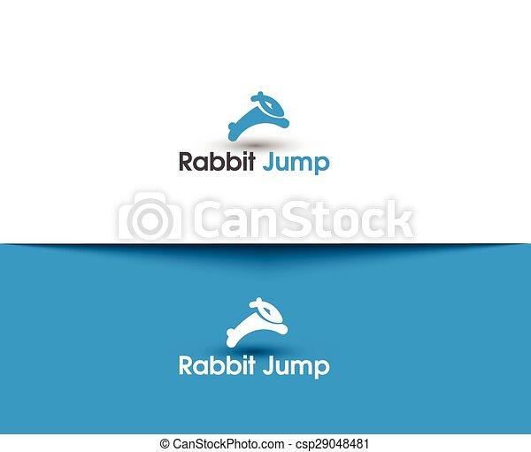 Logo de salto de conejo - csp29048481