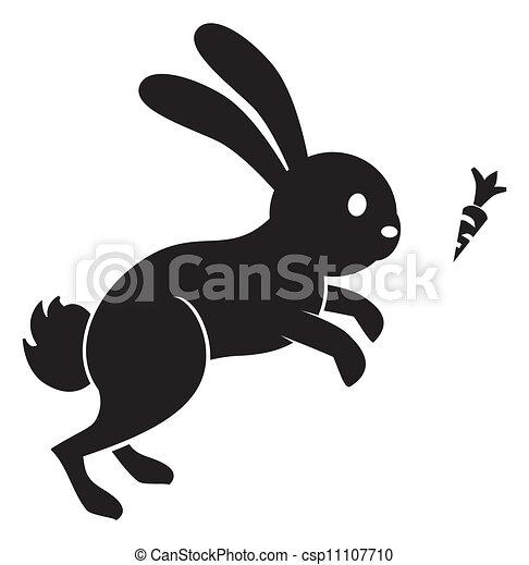 zanahoria de salto de conejo - csp11107710