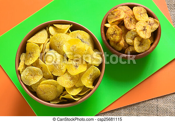 Salty and Sweet Plantain Chips - csp25681115