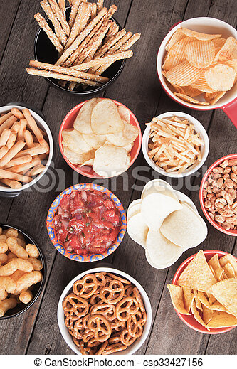 Salty snacks - csp33427156