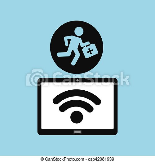 salud, ayuda, dispositivo, paramédico, tecnología, primero