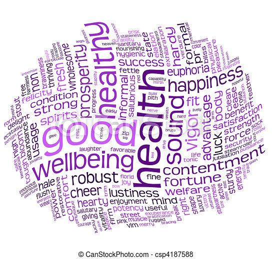 Buena salud y buena nube de etiqueta - csp4187588