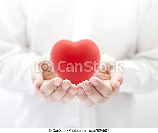 salud, concepto, amor, seguro, o - csp7624507