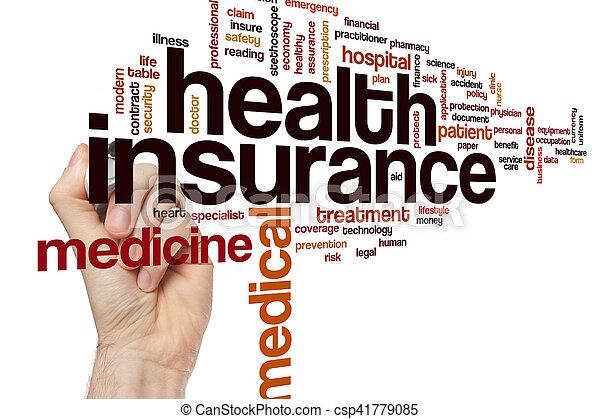 El concepto de la palabra del seguro de salud - csp41779085