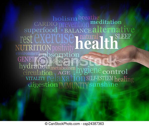 salud, palma, su, mano - csp24387363
