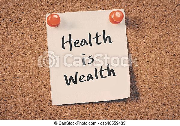 salud, riqueza - csp40559433