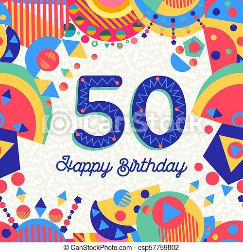 50 Años De Cumpleaños Tarjeta De Felicitación Feliz