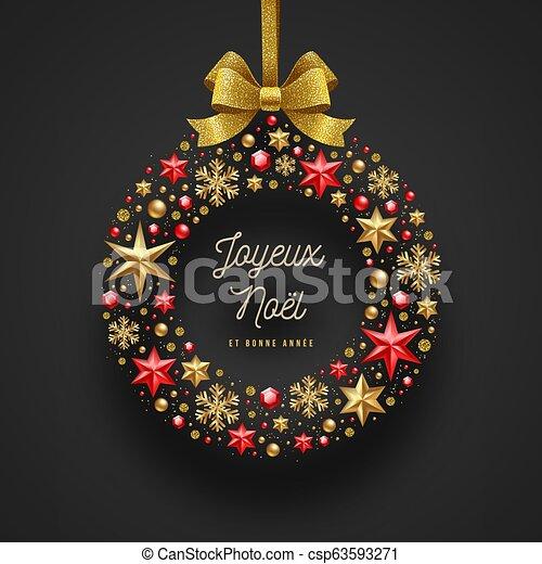 saludos, french., navidad, noel, joyeux, - - csp63593271