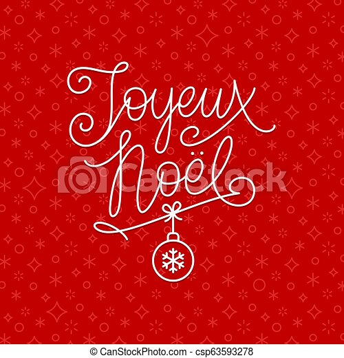 saludos, french., navidad, noel, joyeux, - - csp63593278