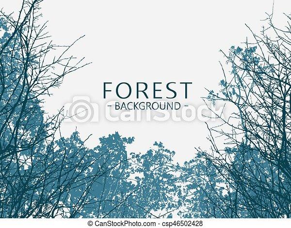 Trasfondo salvaje del bosque - csp46502428