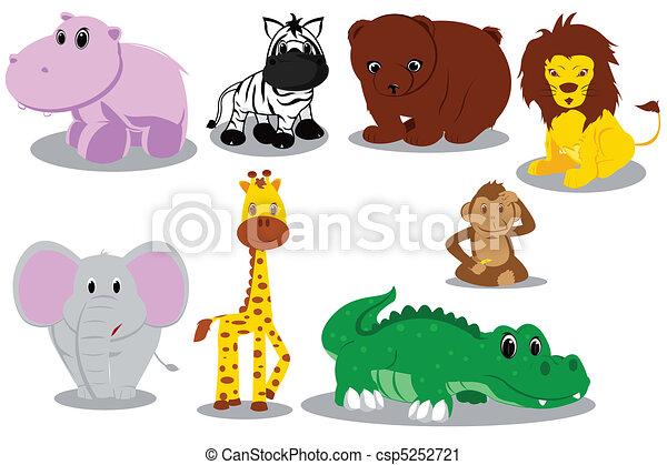 salvaje, caricaturas, animal - csp5252721