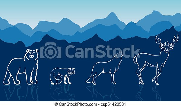 salvaje, compilación, animal - csp51420581