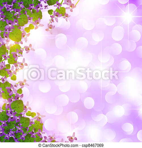 Frontera violeta salvaje - csp8467069