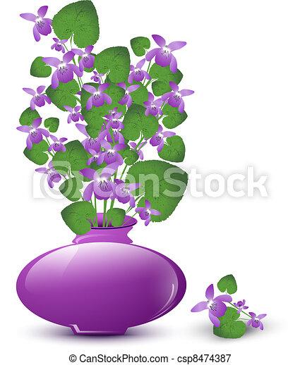 Un montón de violetas silvestres - csp8474387