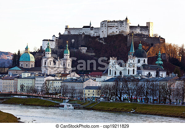 salzburg, austria, cityscape - csp19211829
