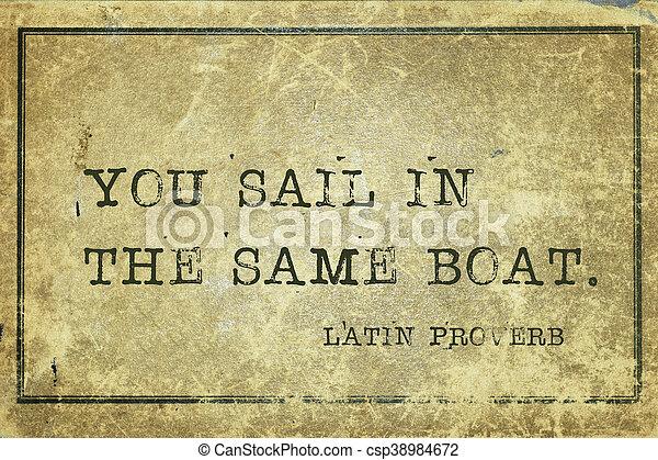 same boat LP - csp38984672