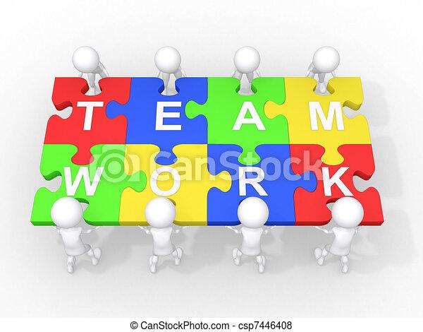 samenwerking, teamwork, concept, bewindvoering - csp7446408